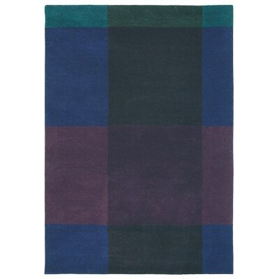 Ted Baker Plaid Hand Tufted Desinger Wool Rug, 280x200cm, Navy