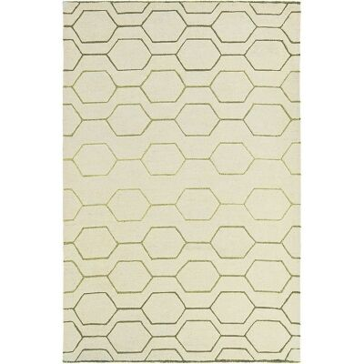Wedgwood Arris Hand Tufted Designer Wool Rug, 240x170cm, Cream