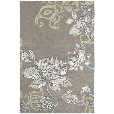 Wedgwood Fabled Floral Hand Tufted Designer Wool Rug, 240x170cm, Grey