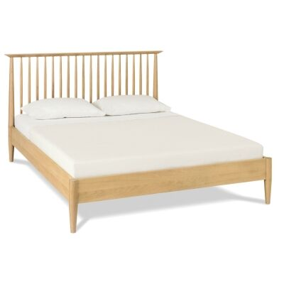 Resvol Low Spindle Wooden Bed, Queen