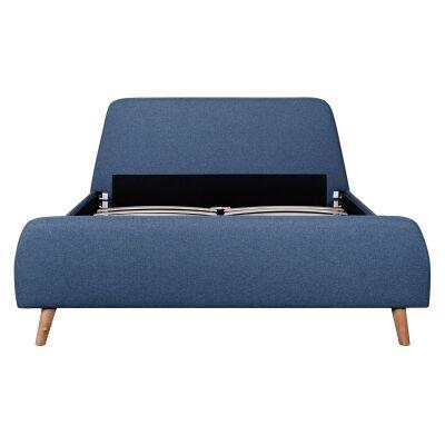 Binda Fabric Bed, Queen, Yale Blue