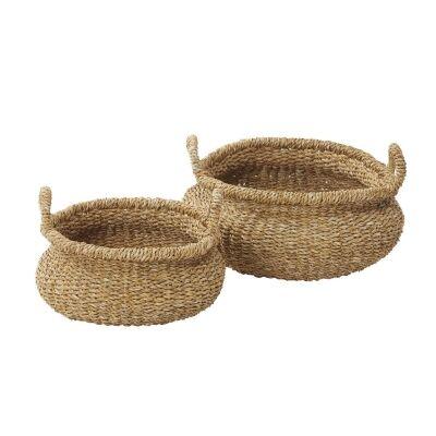 Tongi 2 Piece Handwoven Seagrass Basket Set