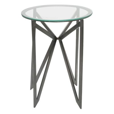 Granby Iron & Glass Side Table