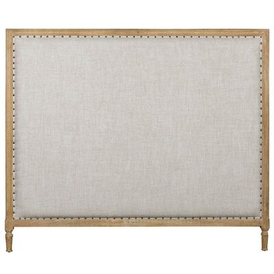Georgian Fabric Bed Head, Queen Size, French Linen