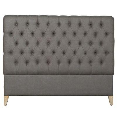 Jasper Tufted Fabric Bed Headboard, King, Cocoa