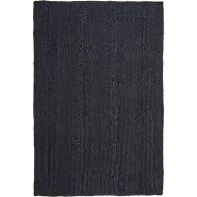 Bondi Hand Braided Jute Rug, 280x190cm, Black