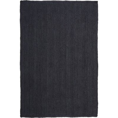 Bondi Hand Braided Jute Rug, 320x230cm, Black