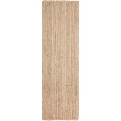 Bondi Hand Braided Jute Runner Rug, 300x80cm, Natural