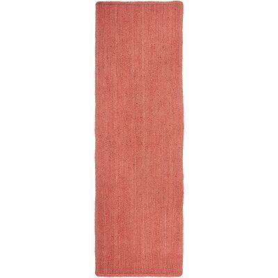 Bondi Hand Braided Jute Runner Rug, 300x80cm, Terracotta
