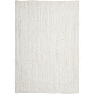 Bondi Hand Braided Jute Rug, 220x150cm, White