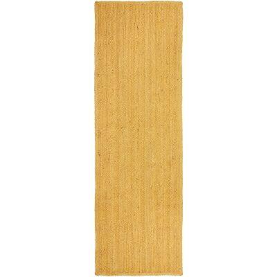 Bondi Hand Braided Jute Runner Rug, 400x80cm, Yellow