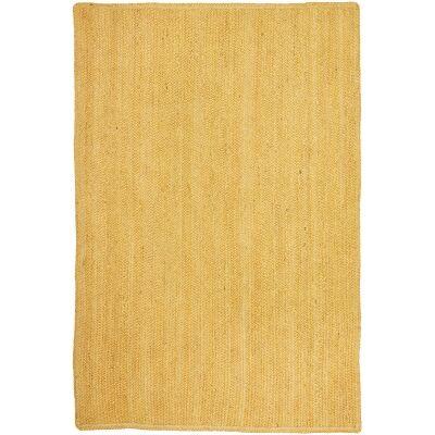 Bondi Hand Braided Jute Rug, 220x150cm, Yellow