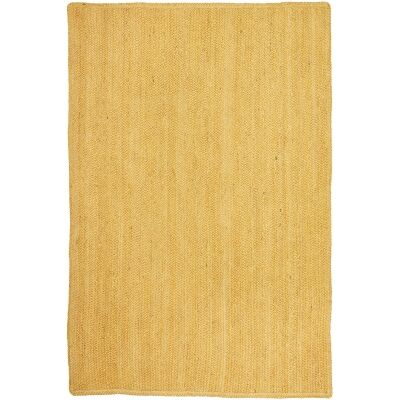 Bondi Hand Braided Jute Rug, 400x300cm, Yellow