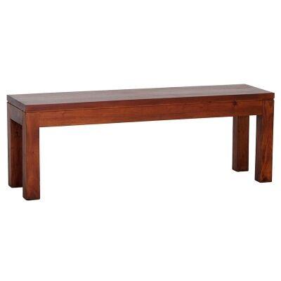 RPN Solid Mahogany Timber 128cm Dining Bench - Light Pecan