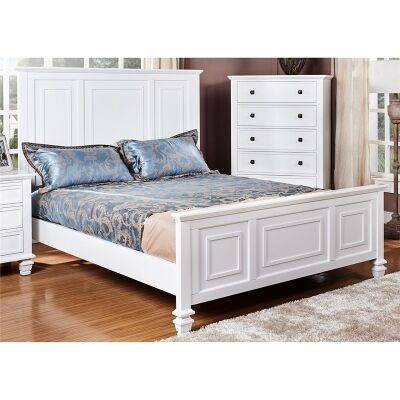 Monet Solid American Poplar Timber King Bed