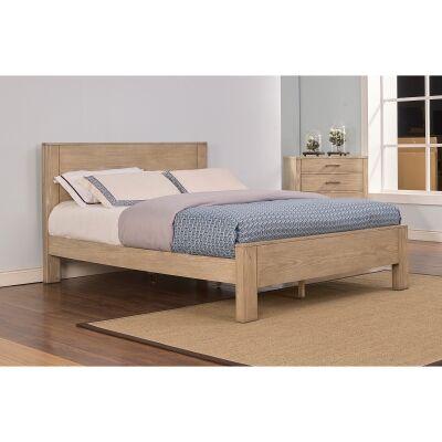 Carrollton Poplar Timber Bed, Double