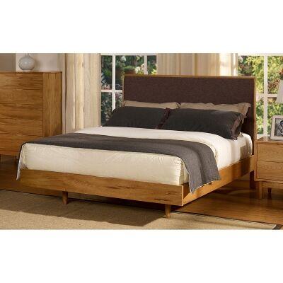 Betty II Poplar Timber Bed, Queen, Dark Grey