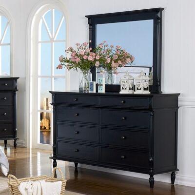 Ozark American Poplar Timber 8 Drawer Dresser with Mirror