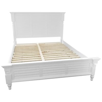 Fitzroy Poplar Timber Bed, King, White