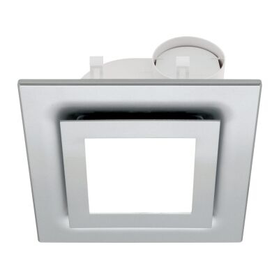 Starline Exhaust Fan with LED Light, Square, Silver