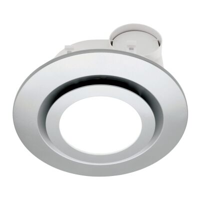 Starline Exhaust Fan with LED Light, Round, Silver
