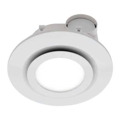 Starline Exhaust Fan with LED Light, Round, White