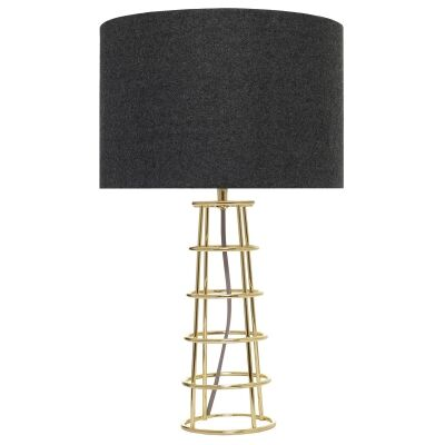Beatrice Metal Wireframe Table Lamp, Brass