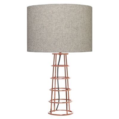 Beatrice Metal Wireframe Table Lamp, Copper