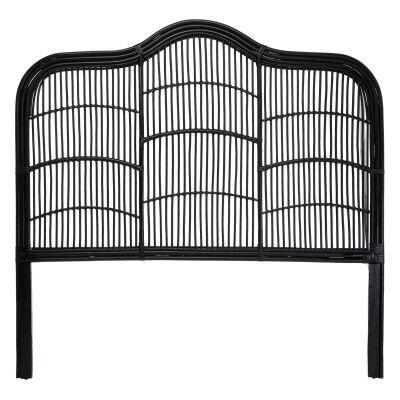 Kavalari Rattan Bed Headboard, Queen, Black