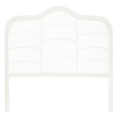 Kavalari Rattan Bed Headboard, Queen, White