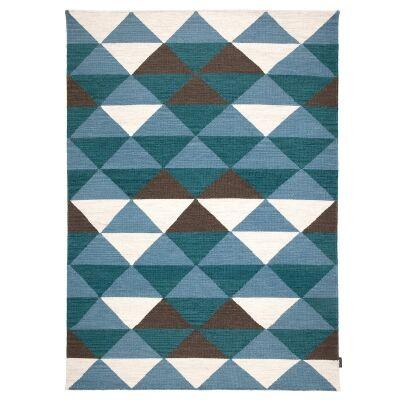 Beni Handwoven Wool Rug, 120x75cm, Sky