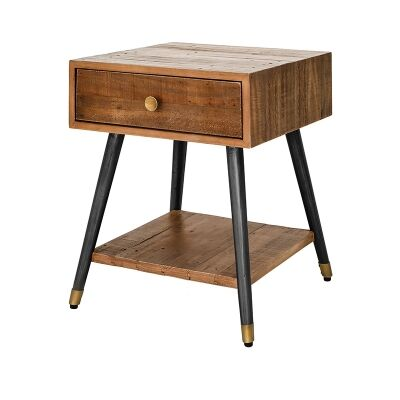 Bohemian Reclaimed Timber Side Table