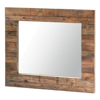 Bohemian Reclaimed Timber Frame Wall Mirror,130cm