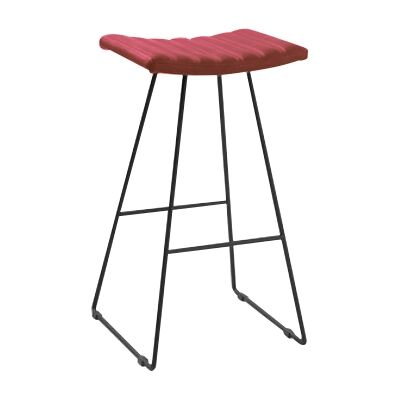 Bob PU Leather Counter Stool, Black / Red