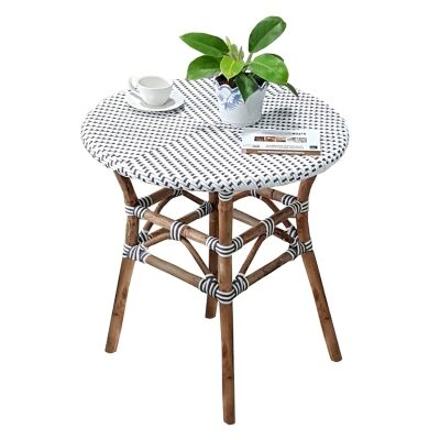 Parisian Rattan Round Bistro Table, 70cm