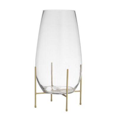 Allegra Glass Vase on Metal Stand, Large