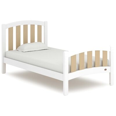 Boori Milano Wooden Bed, King Single, Barley White / Almond