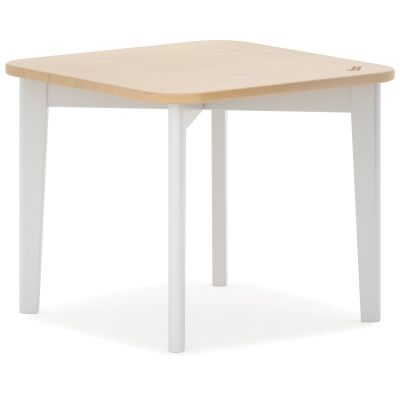 Boori Tidy Wooden Kids Table, 50cm, Barley White / Almond