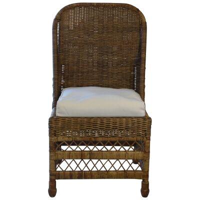 Savannah Lattice Rattan Dining Chair, Tobacco