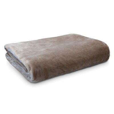 Ardor Boudoir Lucia Luxury Velvet Plush Blanket, 230x240cm, Stone