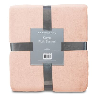 Apartmento Kaya Flannel Plush Blanket, 160x228cm, Blush