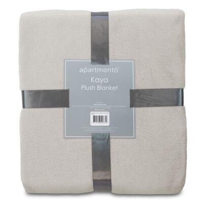 Apartmento Kaya Flannel Plush Blanket, 203x228cm, Silver
