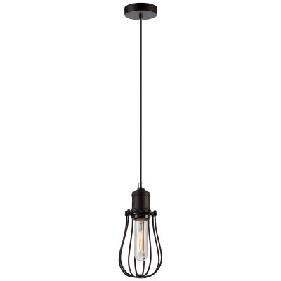 Blackband Iron Caged Pendant Light, Pear, Black