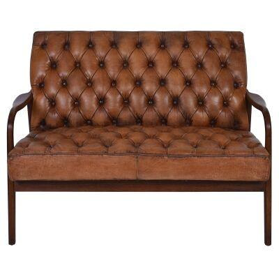 Rasen Leather & Timber Settee