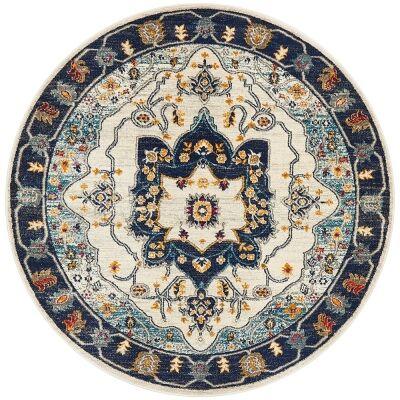 Babylon Auberon Bohemian Round Rug, 200cm, Blue
