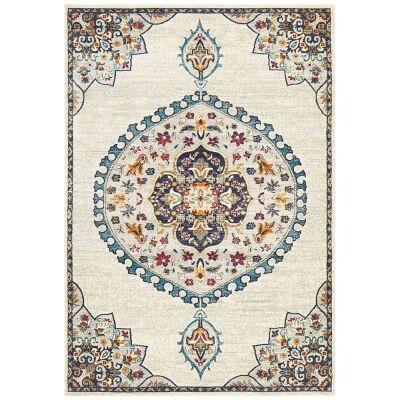 Babylon Chantilly Bohemian Rug, 160x230cm, White