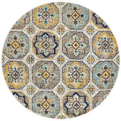 Babylon Hermione Bohemian Round Rug, 240cm, Blue