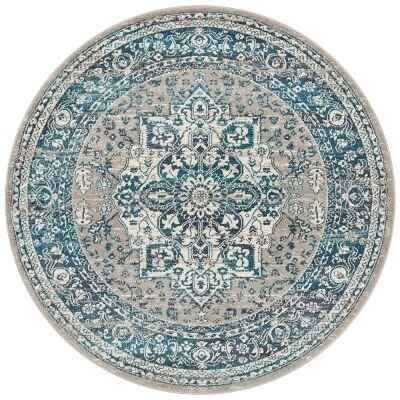 Babylon Oriana Bohemian Round Rug, 150cm, Blue