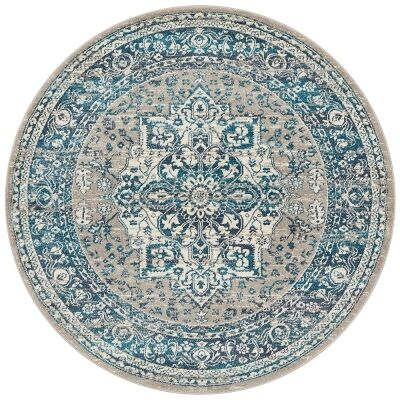 Babylon Oriana Bohemian Round Rug, 240cm, Blue