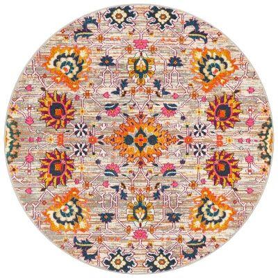 Babylon Viridis Bohemian Round Rug, 150cm, Multi